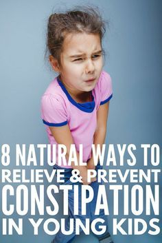 How to Relieve Constipation in Kids Naturally | Whether your child suffers from occasional, chronic, or severe constipation, these tips are for you! From symptoms and causes to natural remedies, problem foods, and kid-approved high fiber recipes, learn how to relieve childhood constipation without essential oils and laxatives. #constipation #constipationrelief #constipationsigns #constipationremedies #fiberrecipes #highfiber #parenting #parenting101
