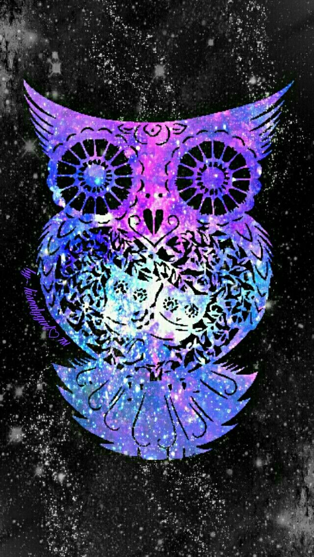 Tribal owl galaxy wallpaper I created for the app CocoPPa.