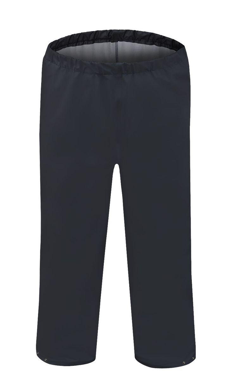 PANTALONES IMPERMEABLES Modelo: 083 Pantalones a la cintura con perneras ajustables por broches de presión. Modelo hecho de un tejido ligero, impermeable y respirante Aquapros. Destinado para el uso en las condiciones atmosféricas desfavorables. Asegura la protección eficaz contra el viento y la lluvia. La técnica del sellado bilateral aumenta la resistencia de las costuras. El producto cumple con los estándares de las normas europeas: EN ISO 13688 y EN 343.