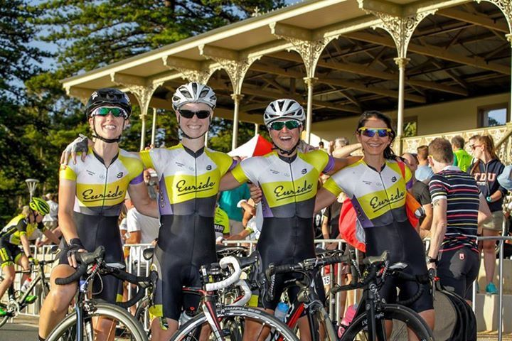 Victoria Veitch and her 'geriatric cycling team'
