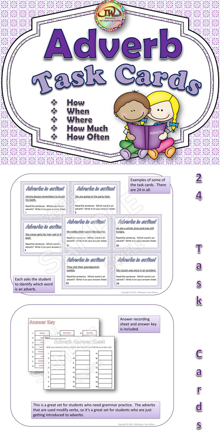 Worksheet Adverbs Ks1 1000 images about teaching adjectivesadverbs on pinterest an 24 adverb task cards with recording sheet and answer key great for students who need