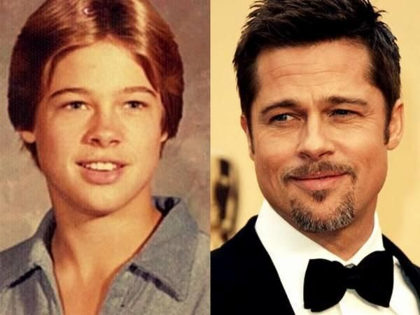 Can You Guess The Celebrity Based On Their Childhood Picture In 2020 Actors Then And Now Young Celebrities Brad Pitt