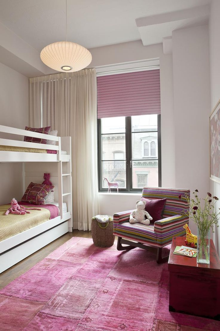 Modern use of pink in child's room...