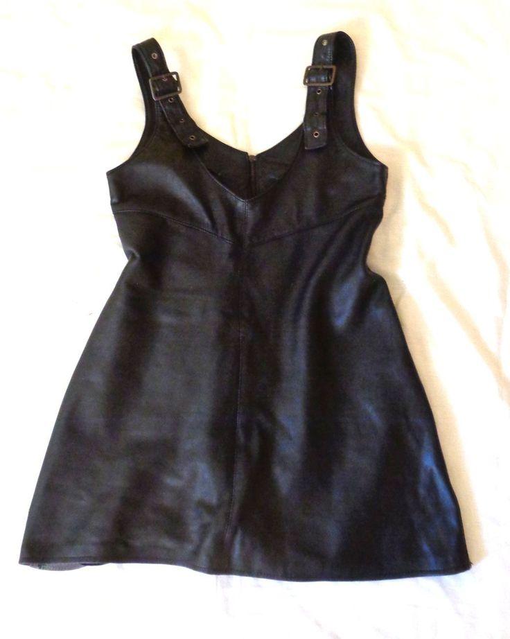 allsaints pinafore dress real soft leather handmade grunge full zipped sexy | eBay