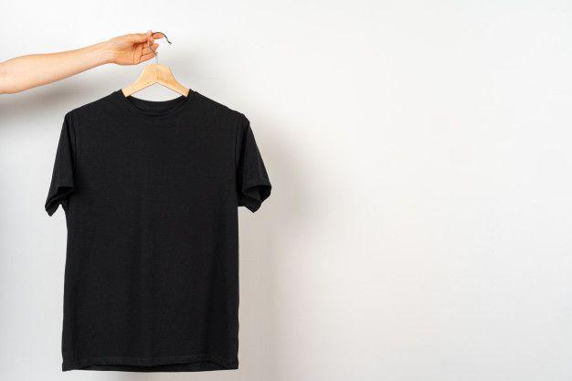 Black Plain T Shirt Hanging On A Hanger Copy Space Plain Black T Shirt Plain Tshirt Plain White T Shirt