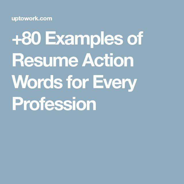Best 25+ Resume action words ideas on Pinterest Resume key words - top resume keywords