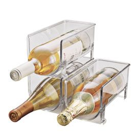 stackable wine holders for the fridge! (Bed bath and beyond - saw them for $12 a piece) - we were just talking about this. @jeremyzabel