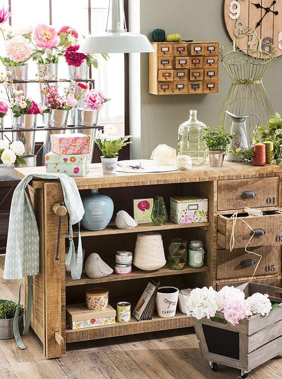 nouvelle tendance d co garden factory maisons du monde salon pinterest tendance deco. Black Bedroom Furniture Sets. Home Design Ideas