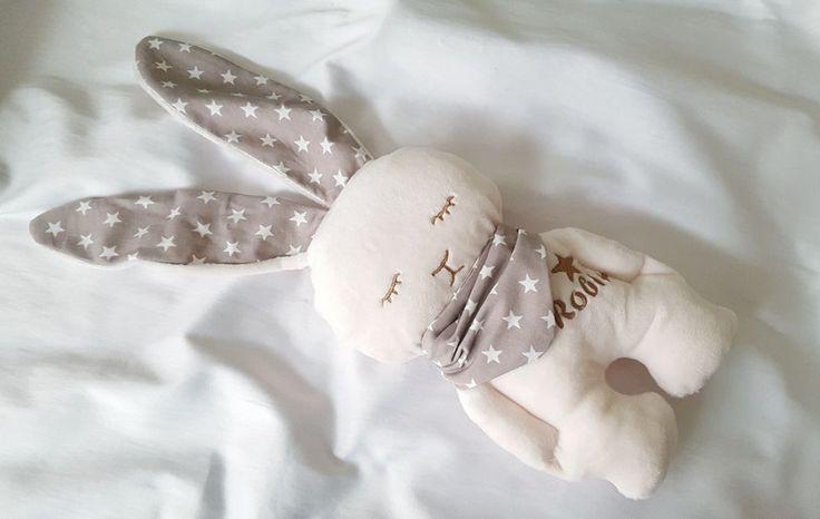 Stuffed Animals – handmade personalized fluffy bunny ✿ – a unique customizable name pupu lahjat vauvalahja