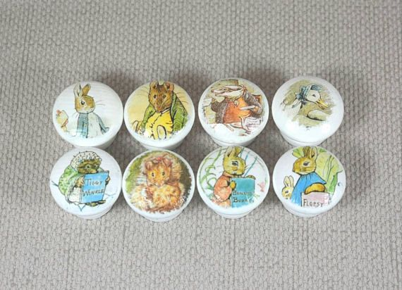 Hey, I found this really awesome Etsy listing at https://www.etsy.com/uk/listing/593102875/beatrix-potter-knobs-wooden-knobs-drawer