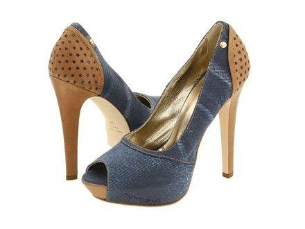 Denim Shoes Heels