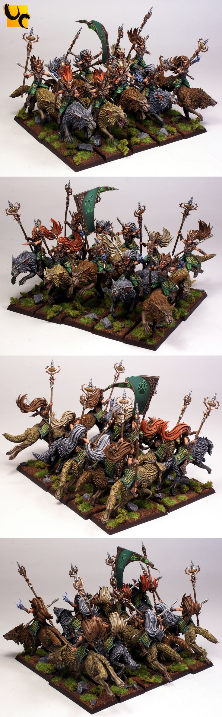 Warhammer FB | Wood Elves | Sister of Thorn on wolves?