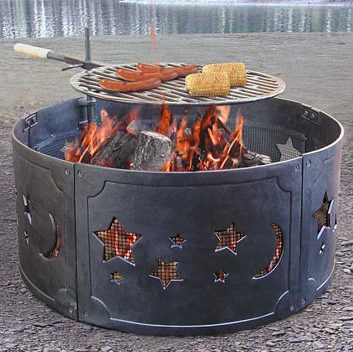 fire pit metal ring - Metal Fire Pit And How To Be Safe When You Have One – Garden Design
