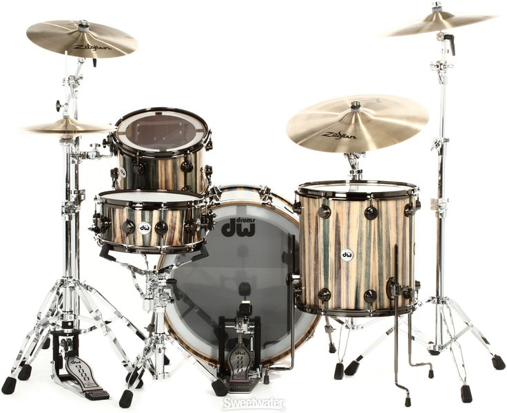 DW Collector's Exotic 4-piece Drum Set - Demo Dragonwood | Sweetwater.com