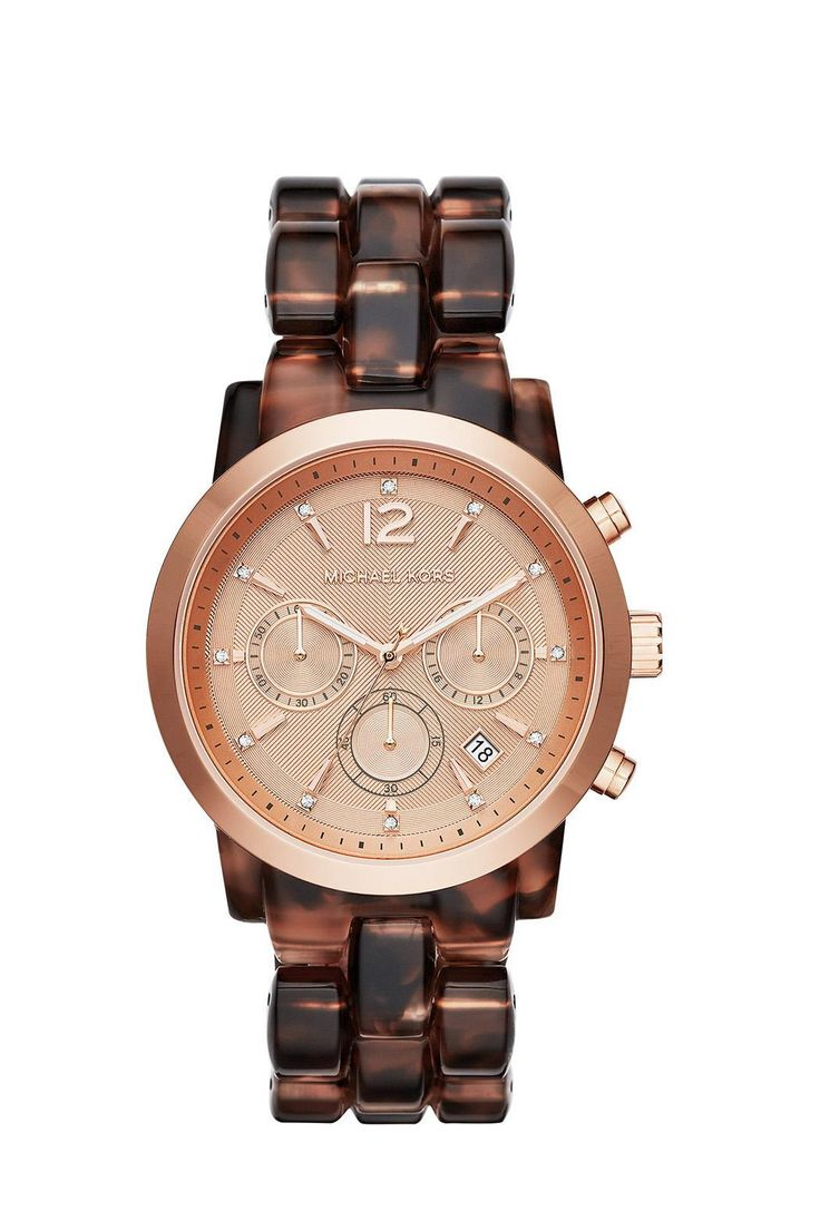 Meet Audrina, an alluring watch showcasing an elegant mix of elements. The glamorous tortoise-acetate strap is elevated by a feminine rose gold-tone bezel and dial. Oversized.    Audrina Tortoise Watch by Michael Kors. Accessories - Jewelry - Watches South Carolina