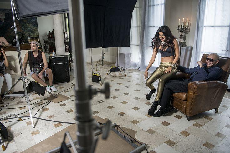 "Priyanka Chopra filming music video ""Exotic"" - proud of our #Asmi #Diamonds girl #priyankachopra"