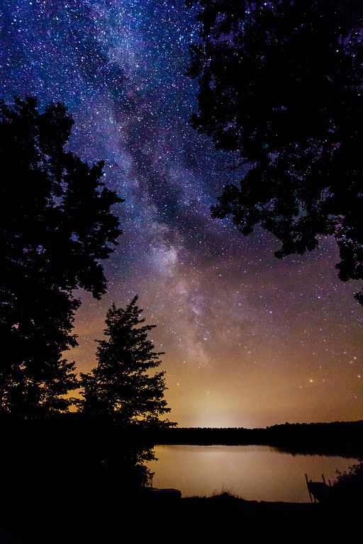 Milky Way Over Northwoods Lake, Boulder Junction, Wisconsin