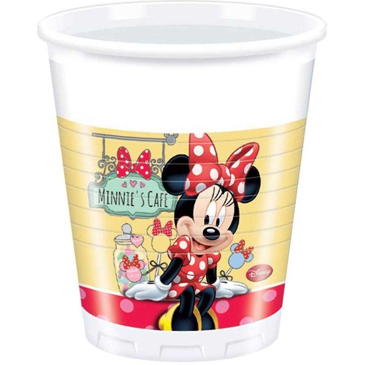 8 bicchieri di plastica Minnie Cafe™ su VegaooParty, negozio di articoli per feste. Scopri il maggior catalogo di addobbi e decorazioni per feste del web,  sempre al miglior prezzo!