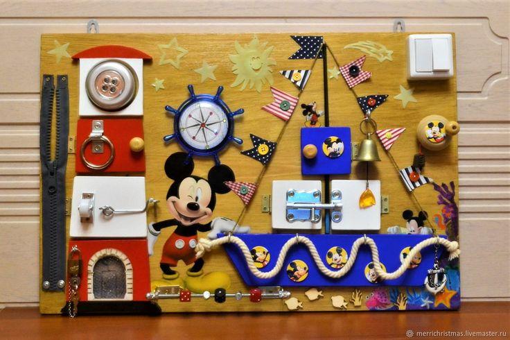 """Купить Бизиборд Развивающая доска для детей """"Микки Маус"""" в интернет магазине на Ярмарке Мастеров"""