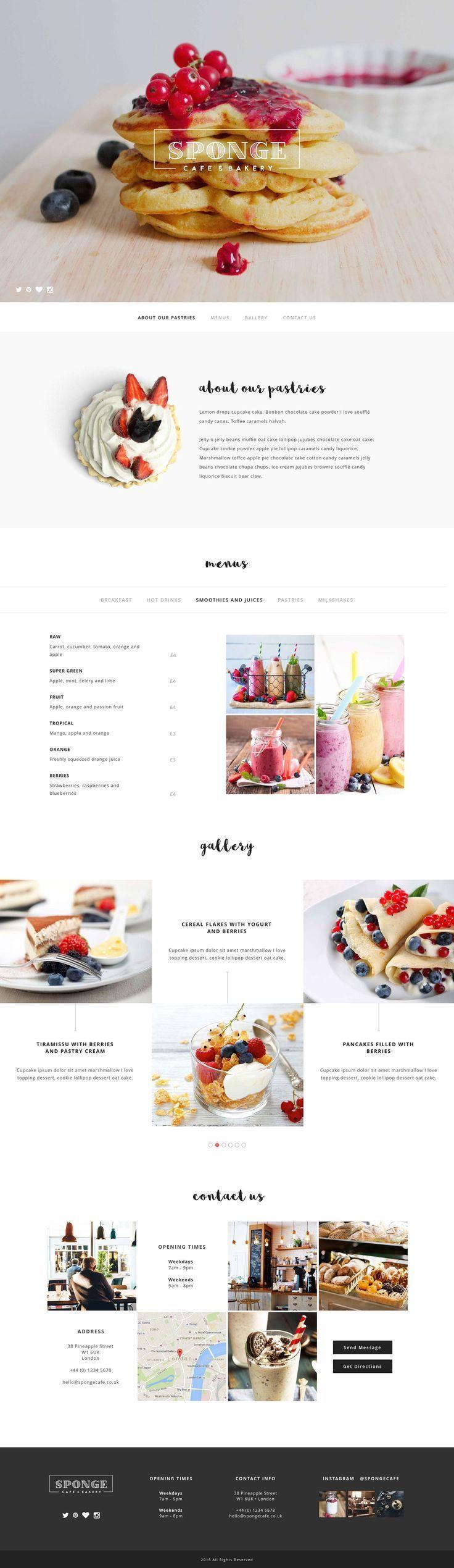 Cafe & Bakery website concept.