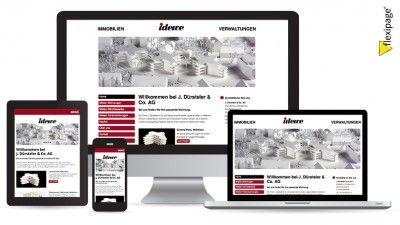 J. Dürsteler & Co. AG, Wetzikon, Flexipage, Responsive Webdesign, Internetauftritt