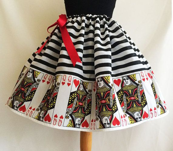 Queen Of Hearts Costume, Cosplay, Queen Of Hearts, Dressing Up Skirts By Rooby Lane