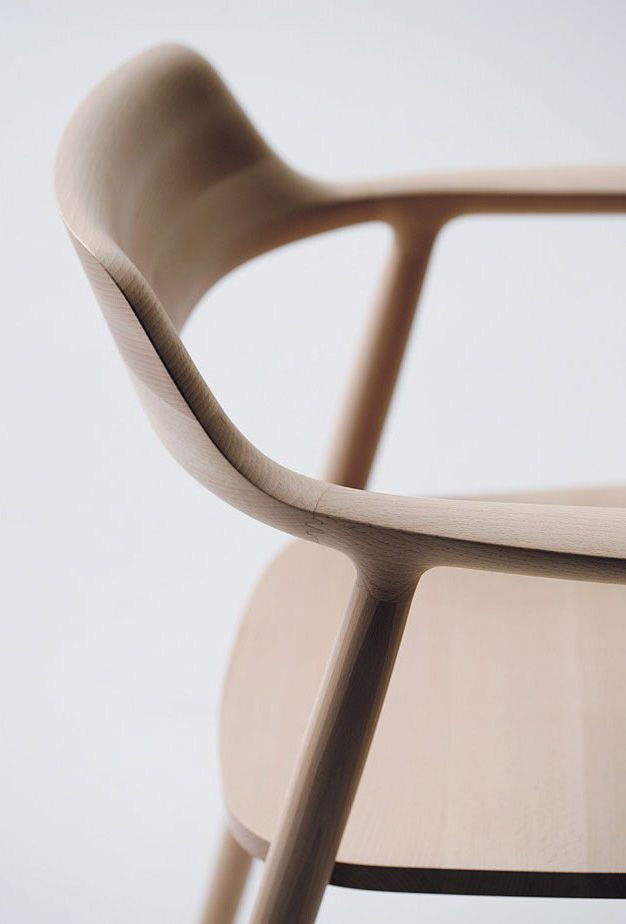 kaitolovesthis:  HIROSHIMA CHAIR by Naoto Fukasawa x Maruni A not uncommon form but refined and mastered by Fukasawa and crafted with precision by Japanese woodworkers. My first impression when I sat down in this chair was not the comfort or the beauty but actually the way that the wood was so finely finished that it felt almost like glass.