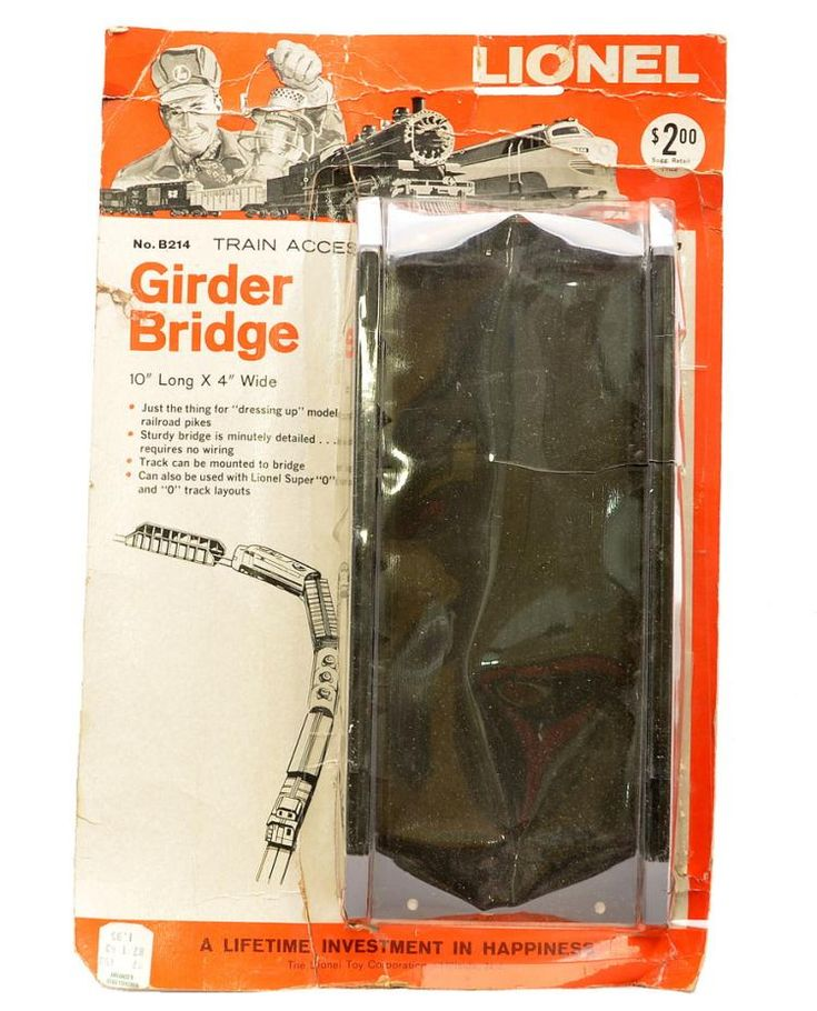 353 best images about lionel trains cars auction lionel postwar no b214 girder bridge factory sealed in blister pack the cardboard backing