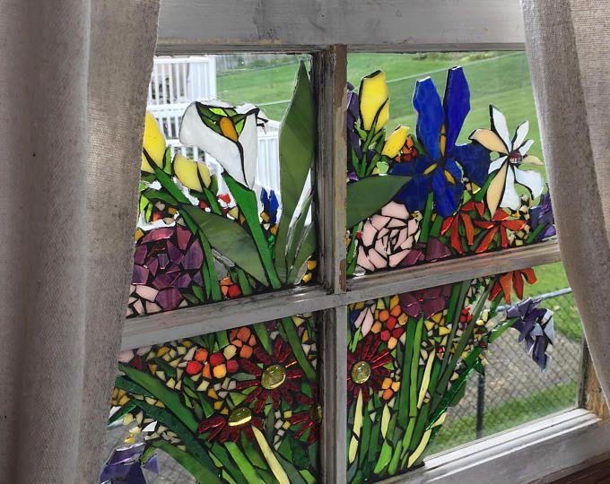 "Mosaic Window ~ ""Blooms"""