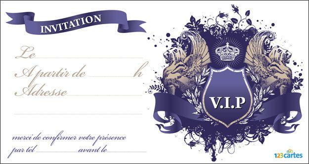 invitation anniversaire vip royale avec