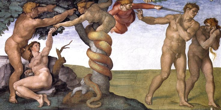 Michelangelo (Italy 1488-1564)- The Fall and Expulsion of Adam and Eve, Sistine Chapel