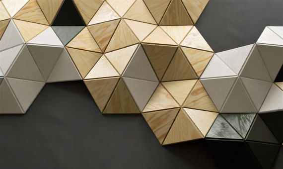 CELL 15 pcs. wall sculpture Decor Pattern Geometric