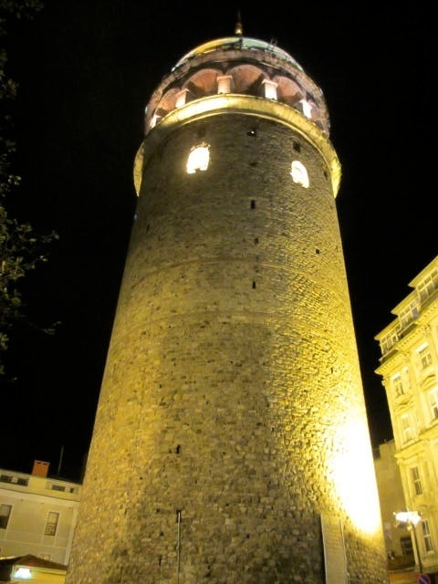 Galata tower by night