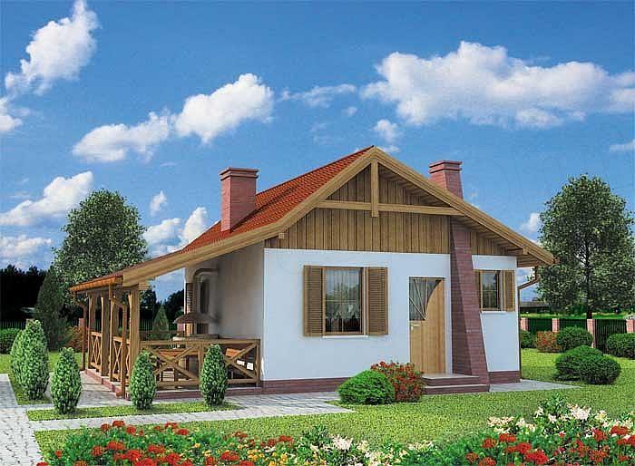 projekt Tuluza dom letniskowy SLN1032