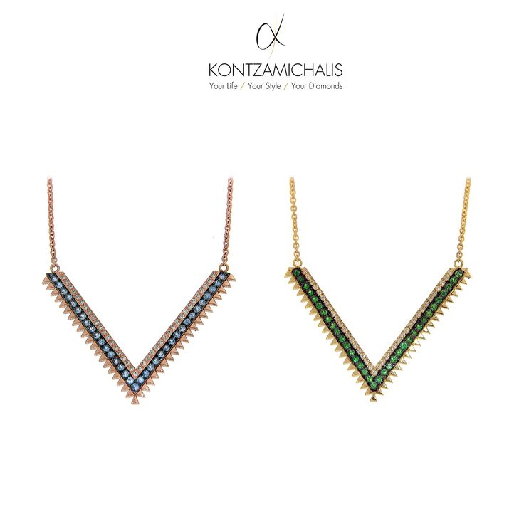 Live on the edge with these #bohoCollection necklaces. Simple enough to wear casually, but also sharp enough to make you stand out. #KontzamichalisJewellery