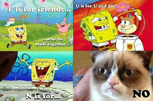 24 best images about Grumpy Cat on Pinterest | To be, Cats ... Funny Spongebob And Patrick Memes