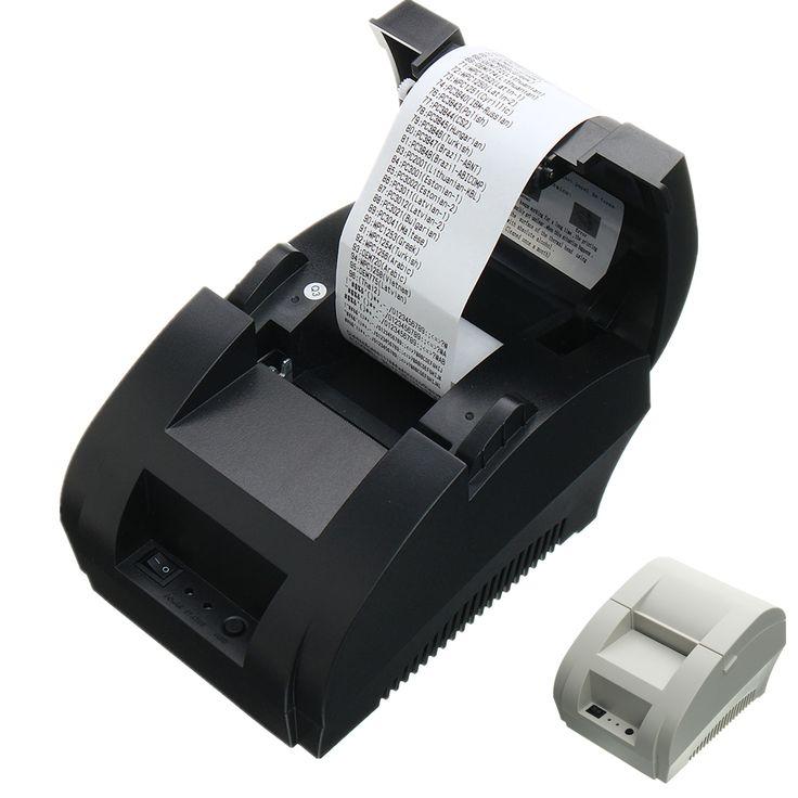Mini USB 58mm POS punto térmico Receipt Bill Printer Set Rollo de papel Tiendas minoristas