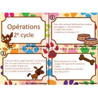 cartes à tâche, opérations, 2e cycle