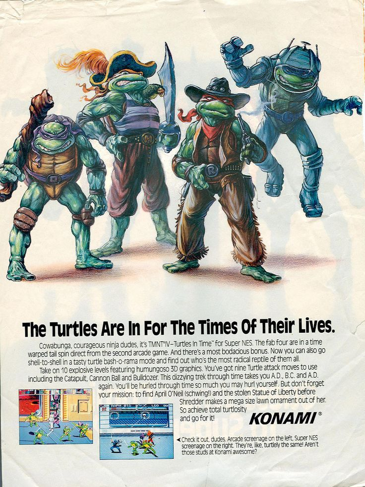 Turtles in Time magazine ad