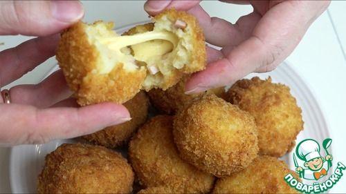 Удивительные картофельные шарики с ветчиной и сыром | Четыре вкуса