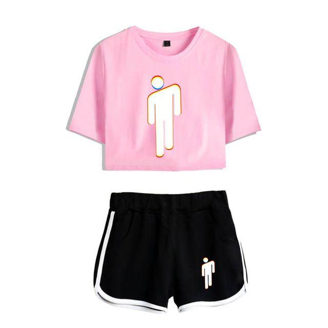 Set Billie Eilish Short T Shirt 28 Varian Crop Top Shirts Crop Tops Women Billie Eilish Merch