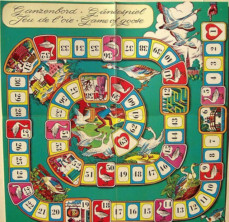 Ganzenbord - Gaensespiel - Game of Goose - Jeu de l'oie