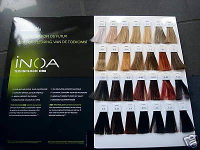 L Oreal Professional Inoa Hair Colour Chart Color Formulas With