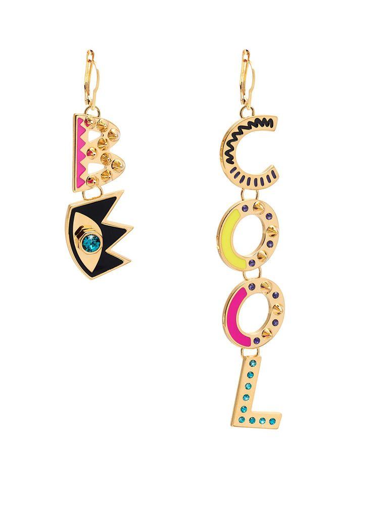 Maria Francesca Pepe Be cool drop earrings Shop now> https://www.mariafrancescapepe.com/showplarge.aspx?prodid=772&catid=47&utm_source=Social&utm_medium=Pinterest&utm_campaign=Fw14_dropearring_%20becool