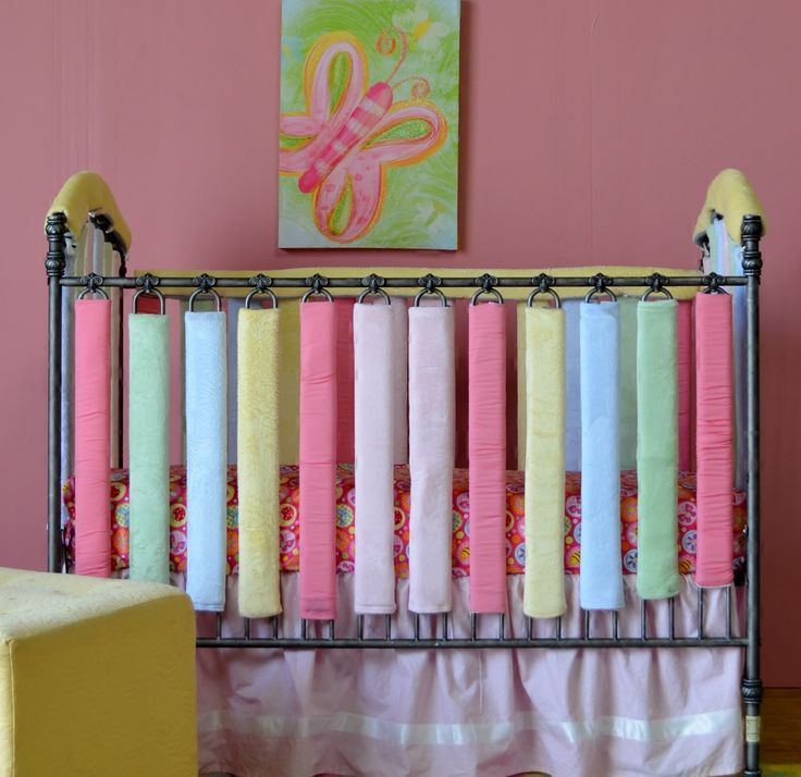Mix and match crib bumper colors with reversible ...