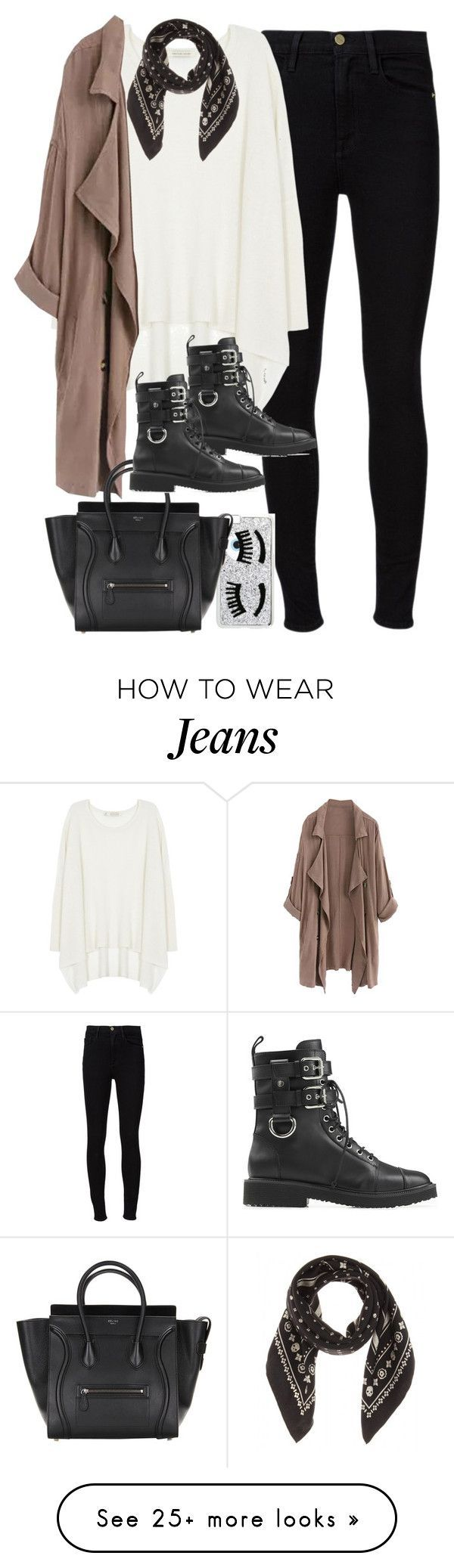 """Outfit for autumn"" by ferned on Polyvore featuring Frame Denim, Century Seven, WithChic, Chiara Ferragni, Giuseppe Zanotti and Coach"