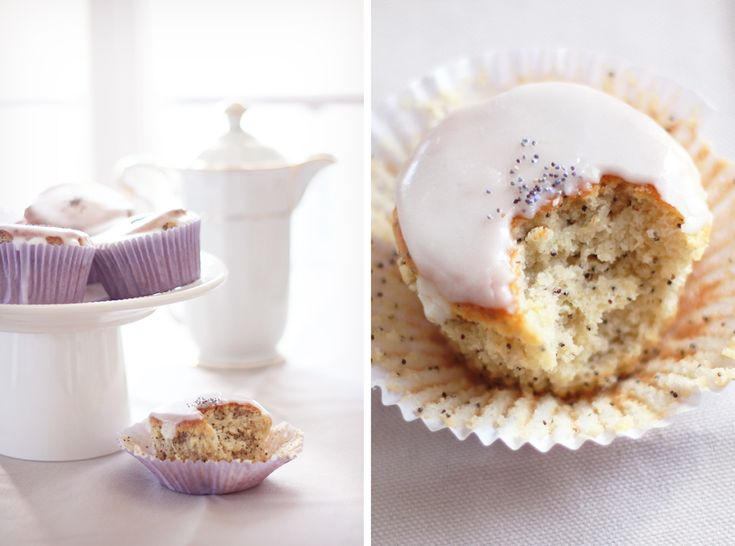 Muffins glacés citron-amande-pavot : Absofruitly !