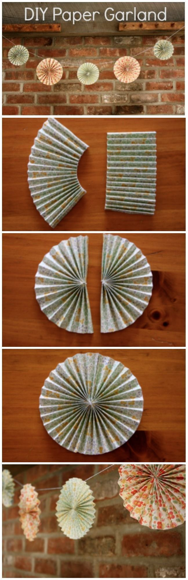 Paper Garland How To                                                                                                                                                     More