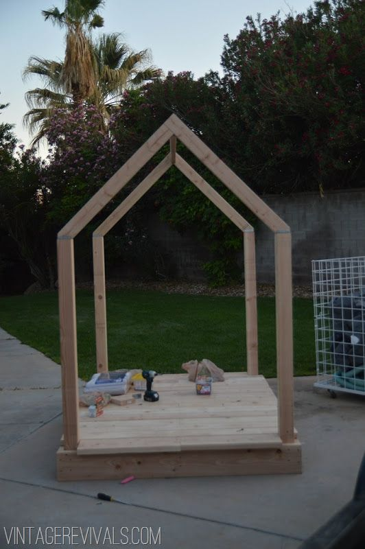 Outdoor Playhouse Plans @ Vintage Revivals-18