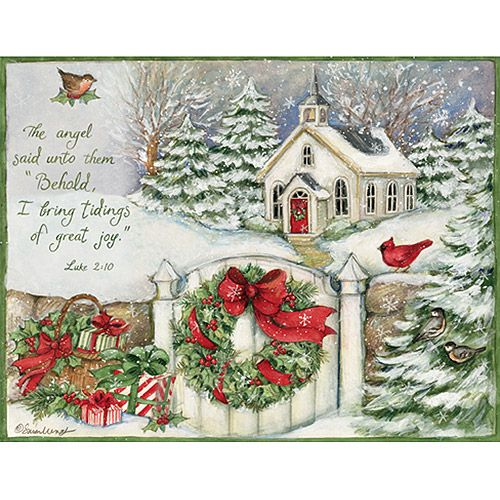 """Lang """"Gifts of Christmas"""" Boxed Christmas Cards. Lang """"Gifts of Christmas"""" Boxed Christmas Cards: Includes 18 full-color cards and 19 envelopes Each card measures 5-3/8"""" x 6-7/8"""" Packaged in a keepsake box Designed by Susan Winget Glitter embellishments Inside verse: """"Merry Christmas and many blessings in the new year.. Price: $14.95"""